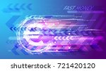 fast money concept. euro coin... | Shutterstock .eps vector #721420120