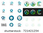 round circle business logos.... | Shutterstock .eps vector #721421254