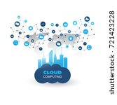 cloud computing and smart city... | Shutterstock .eps vector #721423228