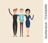 adult men women three best...   Shutterstock .eps vector #721426000