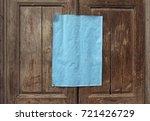 blank azure paper sheet on... | Shutterstock . vector #721426729