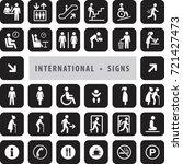 vector set of international... | Shutterstock .eps vector #721427473