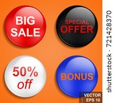 button. great sale. discounts.... | Shutterstock .eps vector #721428370