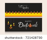 creative website header or... | Shutterstock .eps vector #721428730