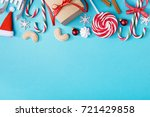 blue background with composed... | Shutterstock . vector #721429858