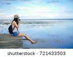 woman photographer taking photo ...   Shutterstock . vector #721433503