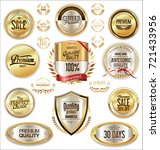 luxury retro badges gold and... | Shutterstock .eps vector #721433956