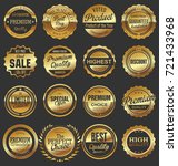 luxury retro badges gold and... | Shutterstock .eps vector #721433968