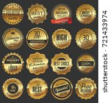 luxury retro badges gold and... | Shutterstock .eps vector #721433974