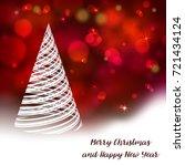 vector stylized christmas tree... | Shutterstock .eps vector #721434124