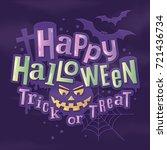 happy halloween stylish... | Shutterstock .eps vector #721436734