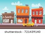 cartoon street. vector...   Shutterstock .eps vector #721439140