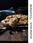 homemade freshly baked pie with ... | Shutterstock . vector #721439638