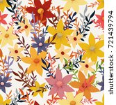 vector pattern with colorful... | Shutterstock .eps vector #721439794