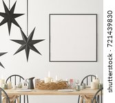 christmas mockup with a poster... | Shutterstock . vector #721439830