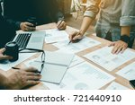 asian group new startup... | Shutterstock . vector #721440910