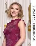 Small photo of LOS ANGELES - FEB 27: Scarlett Johansson arrives in the Press Room at the 83rd Academy Awards at Kodak Theater, Hollywood & Highland on February 27, 2011 in Los Angeles, CA