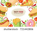 vector fast food template .... | Shutterstock .eps vector #721442806