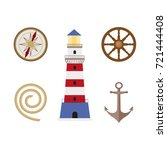 vecotr flat cartoon nautical ...   Shutterstock .eps vector #721444408