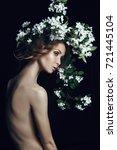 art beauty portrait of nude... | Shutterstock . vector #721445104