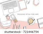 vector illustration of hand... | Shutterstock .eps vector #721446754