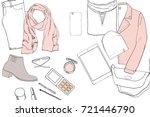 vector illustration of hand... | Shutterstock .eps vector #721446790