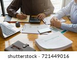 business and finance concept of ... | Shutterstock . vector #721449016