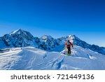 mountaineer backcountry ski... | Shutterstock . vector #721449136