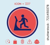 man on treadmill icon | Shutterstock .eps vector #721450378
