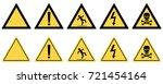 warning signs set. vector. | Shutterstock .eps vector #721454164