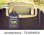 travel safety and travel... | Shutterstock . vector #721454914
