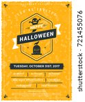 halloween celebrations. vintage ... | Shutterstock .eps vector #721455076