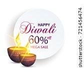 happy diwali   Shutterstock .eps vector #721456474
