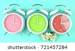 turning the clocks back one... | Shutterstock . vector #721457284