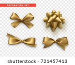 bows gold realistic design.... | Shutterstock .eps vector #721457413