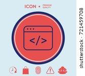 code editor icon | Shutterstock .eps vector #721459708