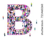 letter b  group of people ... | Shutterstock .eps vector #721460260