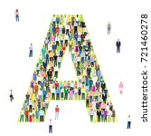 letter a  group of people ... | Shutterstock .eps vector #721460278