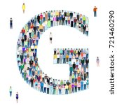 letter g group of people ... | Shutterstock .eps vector #721460290