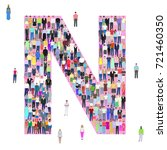 letter n  group of people ... | Shutterstock .eps vector #721460350