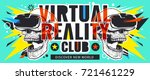 virtual reality flyer with... | Shutterstock .eps vector #721461229
