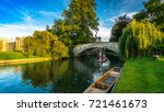 tourists on punt trip ... | Shutterstock . vector #721461673