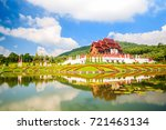 the royal flora ho kum loung in ... | Shutterstock . vector #721463134