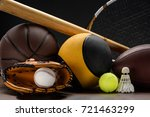 Closeup Shot Of Various Sports...