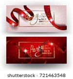 elegant party invitation cards... | Shutterstock .eps vector #721463548