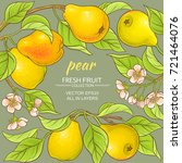 Pear Branches Vector Frame On...