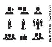 business man icon  vector | Shutterstock .eps vector #721465984