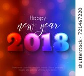 colorful happy new year text... | Shutterstock .eps vector #721467220