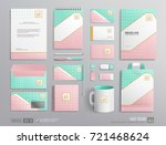 corporate brand identity mockup ... | Shutterstock .eps vector #721468624