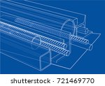 rolled metal products. vector... | Shutterstock .eps vector #721469770